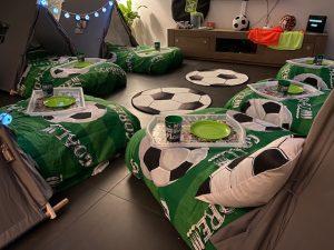 Voetbal slaapfeestje Rotterdam